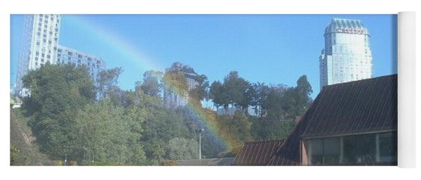 Rainbow At The Falls Yoga Mat