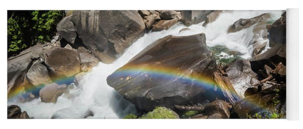 Rainbow At Vernal Falls- Yoga Mat