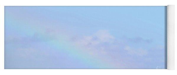 Rainbow Clouds And Sky Yoga Mat