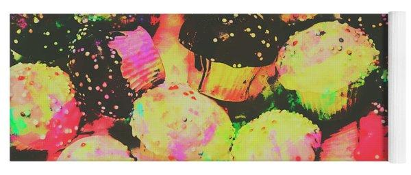 Rainbow Color Cupcakes Yoga Mat
