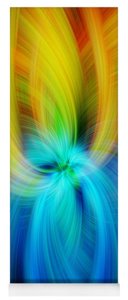 Rainbow Colored Abstract. Concept Humane Idealism  Yoga Mat