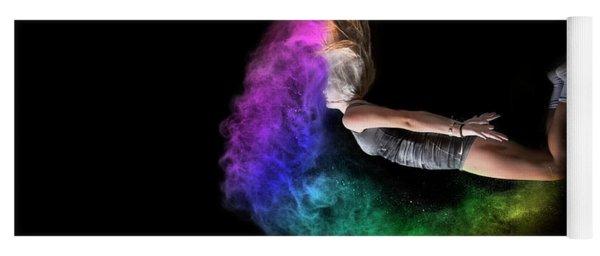 Rainbow Crescent Yoga Mat
