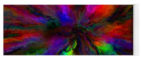 Rainbow Grunge Abstract Yoga Mat