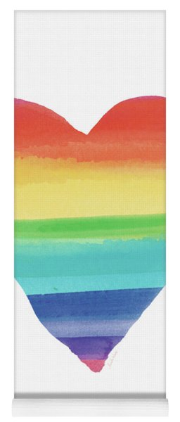 Rainbow Heart- Art By Linda Woods Yoga Mat