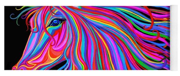 Rainbow Horse  Yoga Mat