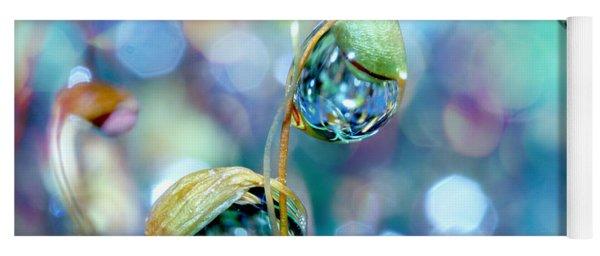 Rainbow Moss Drops Yoga Mat