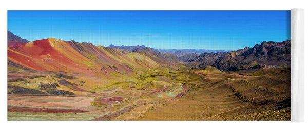 Rainbow Mountain Panorama, Peru Yoga Mat