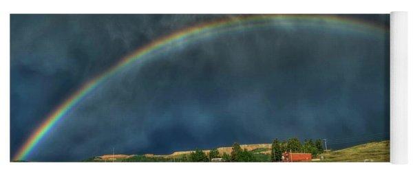 Rainbow Over Cripple Creek Yoga Mat