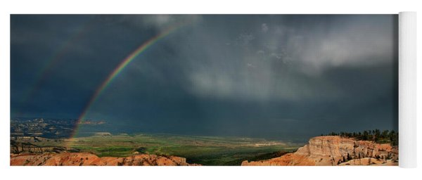 Yoga Mat featuring the photograph Rainbow Over Hoodoos Bryce Canyon National Park Utah by Dave Welling