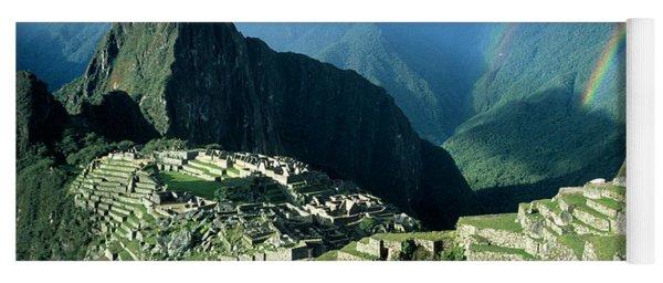 Rainbow Over Machu Picchu Yoga Mat