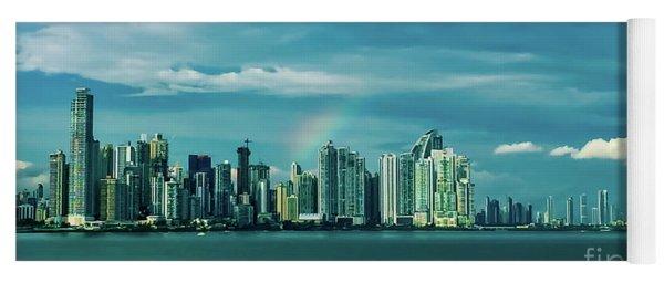 Rainbow Over Panama City Yoga Mat