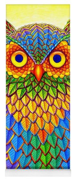 Rainbow Owl Yoga Mat