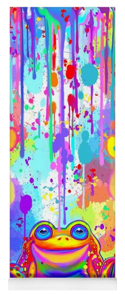 Rainbow Painted Frog  Yoga Mat