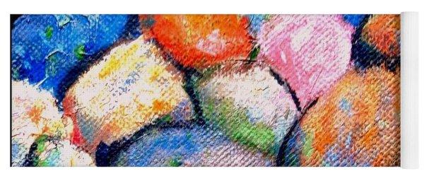 Rainbow Pebbles Yoga Mat