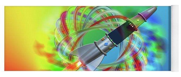 Yoga Mat featuring the photograph Rainbow Rocket Orbits by Rockin Docks Deluxephotos