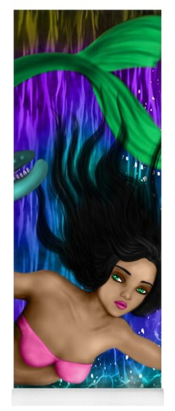 Rainbow Sea Mermaid - Fantasy Art Yoga Mat