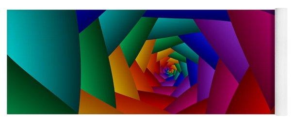Rainbow Spiral Yoga Mat