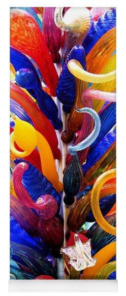 Rainbow Spirals Yoga Mat
