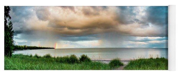 Rainbow Sunset Yoga Mat
