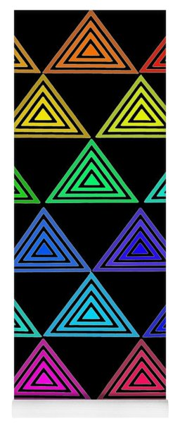 Rainbow Triangles Yoga Mat