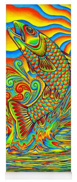 Rainbow Trout Yoga Mat