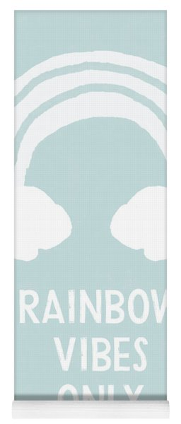 Rainbow Vibes Only Blue- Art By Linda Woods Yoga Mat
