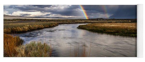 Rainbows At The Upper Owens Yoga Mat