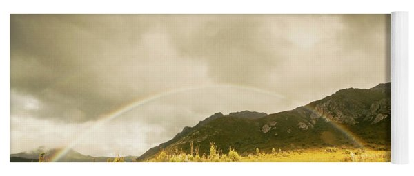 Raindrops In Rainbows Yoga Mat