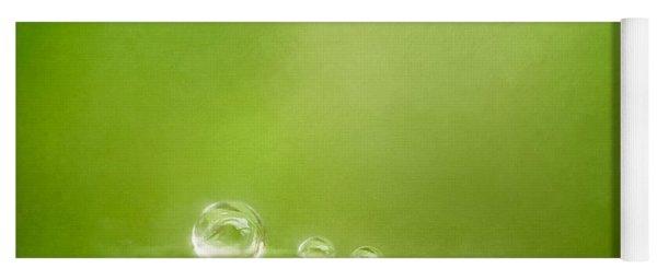 Raindrops On Green Yoga Mat