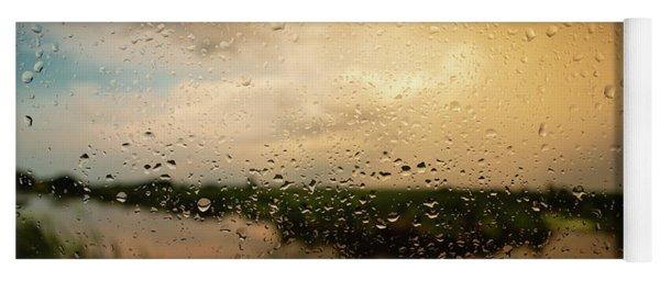 Rainy Dusk Over Horicon Marsh Wisconsin Yoga Mat