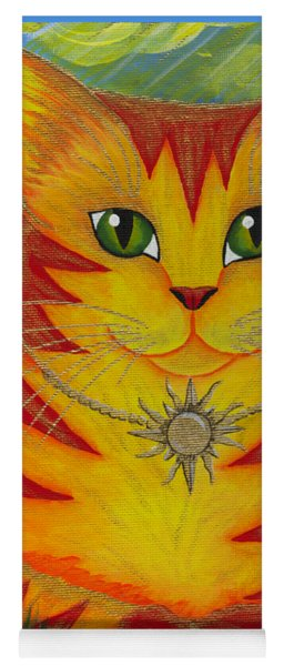 Rajah Golden Sun Cat Yoga Mat