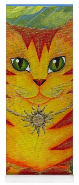 Rajah Golden Sun Cat Yoga Mat