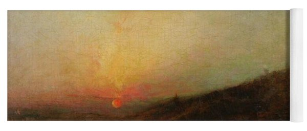 Yoga Mat featuring the painting Ralph Albert Blakelock  1847  1919  Indian Encampment At Sunset by Artistic Panda