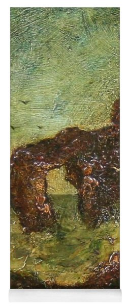 Yoga Mat featuring the painting Ralph Albert Blakelock  1847  1919  Marine, Seal Rock by Artistic Panda