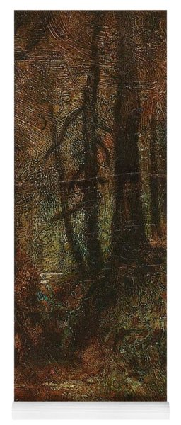 Yoga Mat featuring the painting Ralph Albert Blakelock  1847  1919  Woodland Stream by Artistic Panda