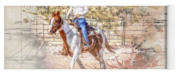 Ranch Rider Digital Art-b1 Yoga Mat