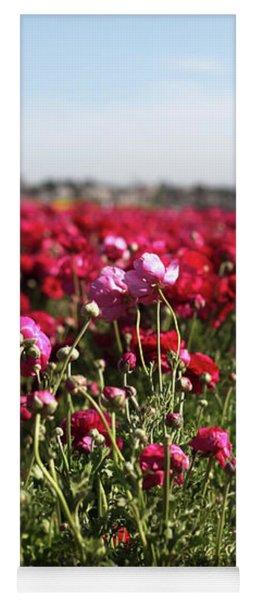 Ranunculus Field Yoga Mat