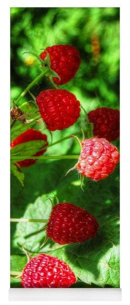Raspberries Yoga Mat