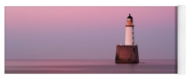 Rattray Head Lighthouse At Sunset - Pink Sunset Yoga Mat