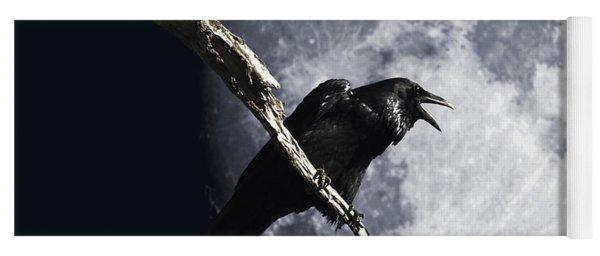 Raven Barking At The Moon Yoga Mat