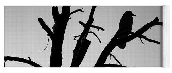 Raven Tree II Bw Yoga Mat