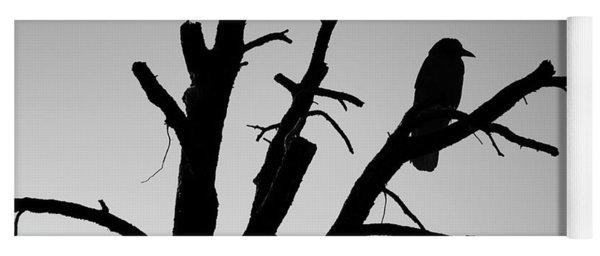 Raven Tree II Bw Yoga Mat