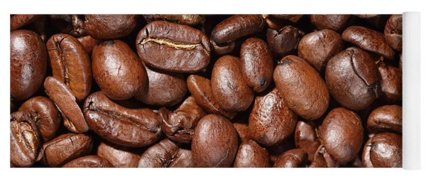 Raw Coffee Beans Background Yoga Mat