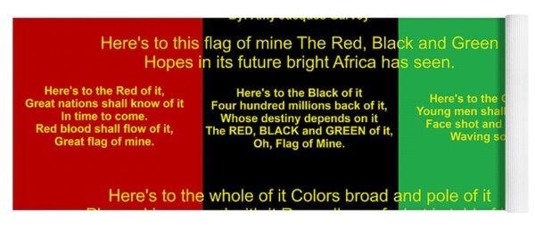 Rbg Flag Pledge By Amy Jacques Garvey Yoga Mat