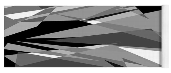 Reaction - Black And White Abstract Yoga Mat
