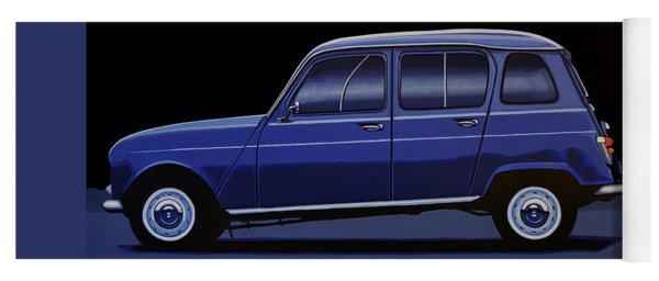 Renault 4 1961 Painting Yoga Mat