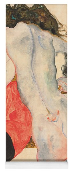 Reclining Woman In Red Trousers And Standing Female Nude Yoga Mat