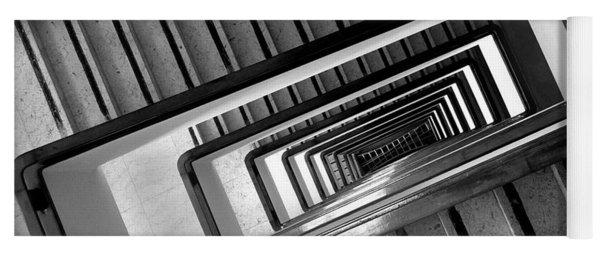 Rectangular Spiral Staircase Yoga Mat