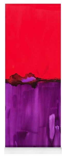Red Above Purple Yoga Mat