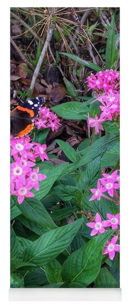 Red Admiral Butterfly Yoga Mat